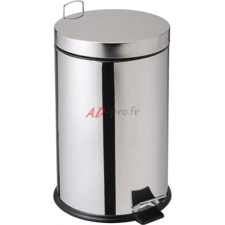 inox diam/ètre 29 cm x 69.5 cm de hauteur Perel hp100104 Poubelle /à p/édale ronde capacit/é 30L